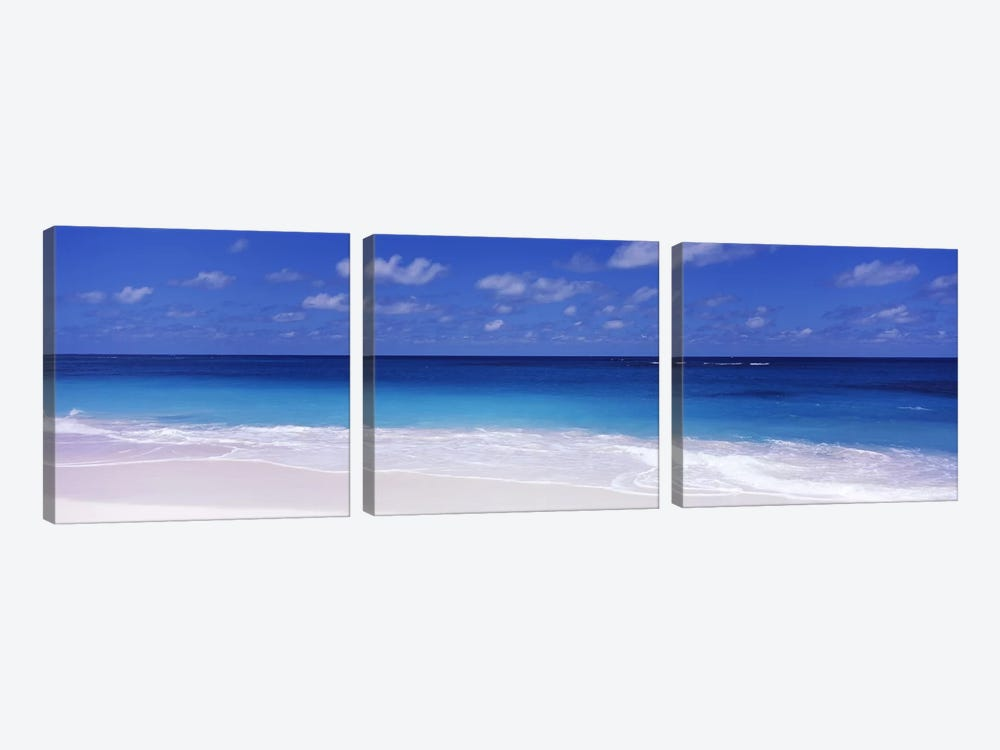 Cloudy Seascape, Shoal Bay Beach, Shoal Bay Village, Anguilla, Leeward Islands, Lesser Antilles by Panoramic Images 3-piece Art Print