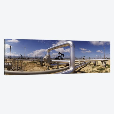 Oil Field Pipelines, Taft, Kern County, California, USA Canvas Print #PIM6944} by Panoramic Images Canvas Wall Art