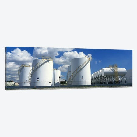 Storage tanks in a factory, Miami, Florida, USA #2 Canvas Print #PIM6945} by Panoramic Images Canvas Wall Art