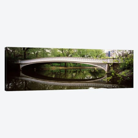 Arch bridge across a lake, Central Park, Manhattan, New York City, New York State, USA Canvas Print #PIM6947} by Panoramic Images Canvas Artwork
