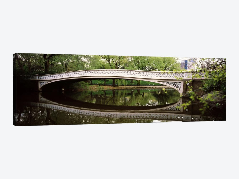 Arch bridge across a lake, Central Park, Manhattan, New York City, New York State, USA by Panoramic Images 1-piece Canvas Print