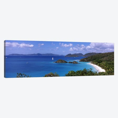 High-Angle View Of Trunk Bay, Virgin Islands National Park, St. John, United States Virgin Islands Canvas Print #PIM6950} by Panoramic Images Canvas Wall Art