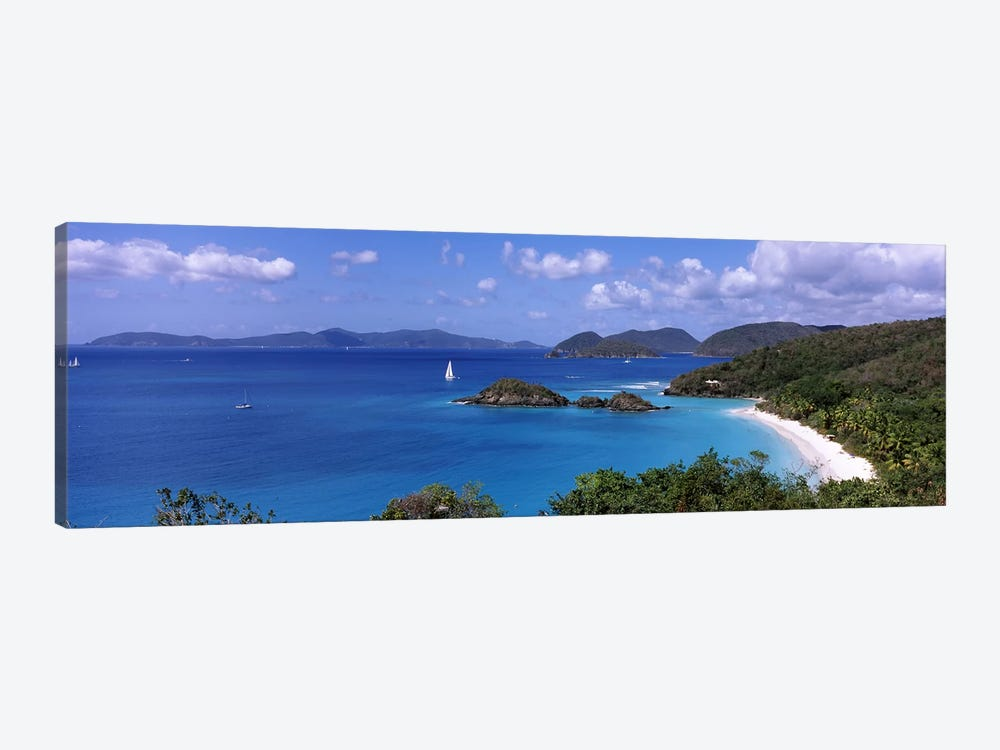 High-Angle View Of Trunk Bay, Virgin Islands National Park, St. John, United States Virgin Islands by Panoramic Images 1-piece Art Print