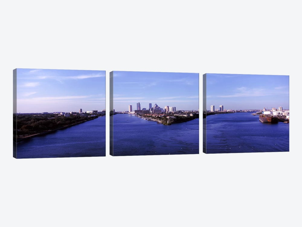 Buildings in a city, Tampa, Hillsborough County, Florida, USA by Panoramic Images 3-piece Canvas Art Print