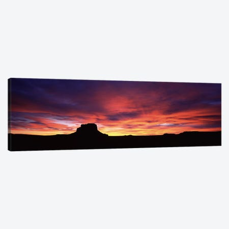 Buttes at sunset, Chaco Culture National Historic Park, New Mexico, USA Canvas Print #PIM6954} by Panoramic Images Art Print