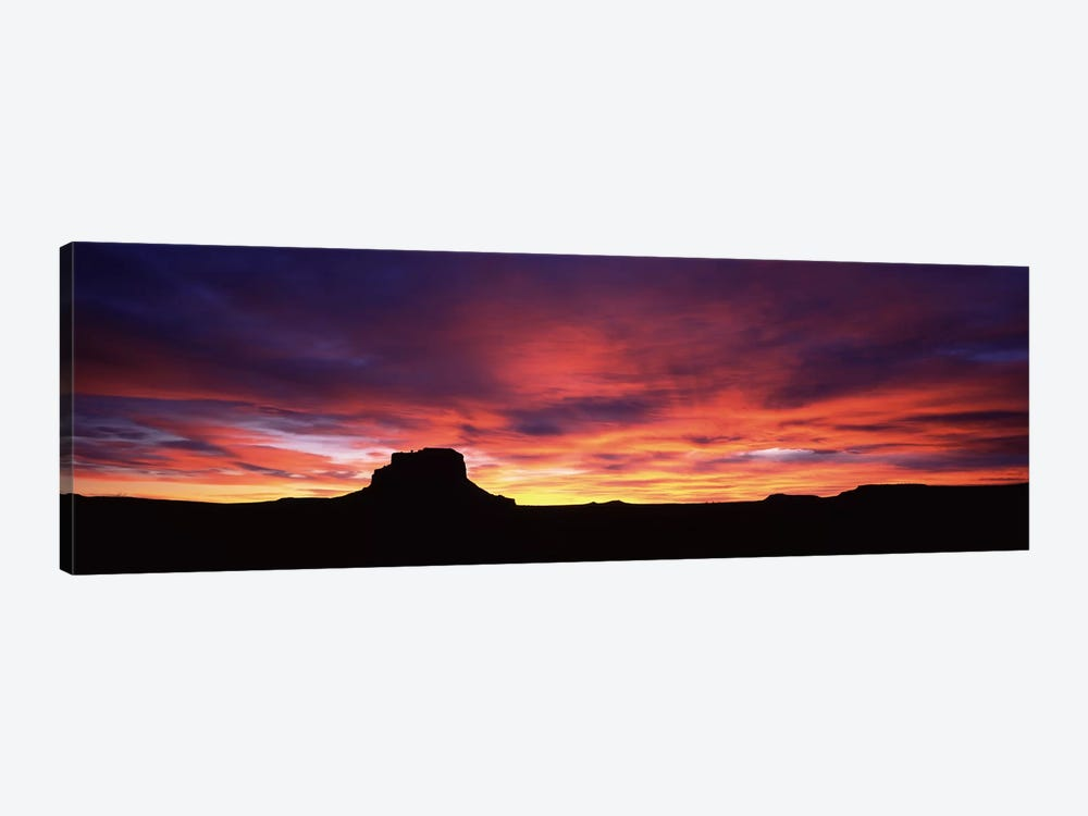 Buttes at sunset, Chaco Culture National Historic Park, New Mexico, USA by Panoramic Images 1-piece Canvas Print
