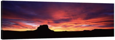 Buttes at sunset, Chaco Culture National Historic Park, New Mexico, USA Canvas Art Print