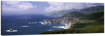 Coastal Landscape With A Distant View Of Bixby Creek Bridge, Big Sur, California, USA Canvas Print #PIM6956
