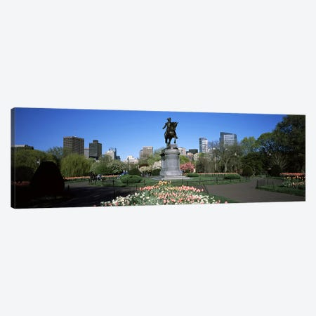 Statue in a garden, Paul Revere Statue, Boston Public Garden, Boston, Suffolk County, Massachusetts, USA Canvas Print #PIM6959} by Panoramic Images Canvas Wall Art
