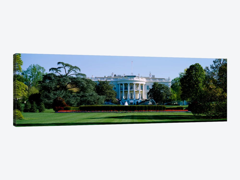 Lawn in front of a government buildingWhite House, Washington DC, USA by Panoramic Images 1-piece Canvas Wall Art