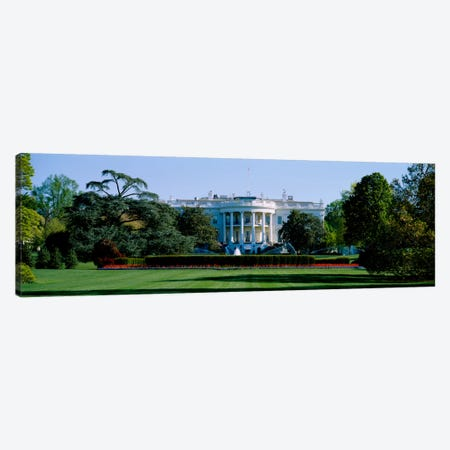 Lawn in front of a government buildingWhite House, Washington DC, USA Canvas Print #PIM695} by Panoramic Images Canvas Artwork