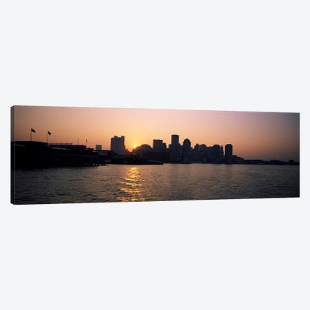 Buildings at the waterfront, Boston Harbor, Boston, Suffolk County, Massachusetts, USA Canvas Print #PIM6960} by Panoramic Images Canvas Art Print