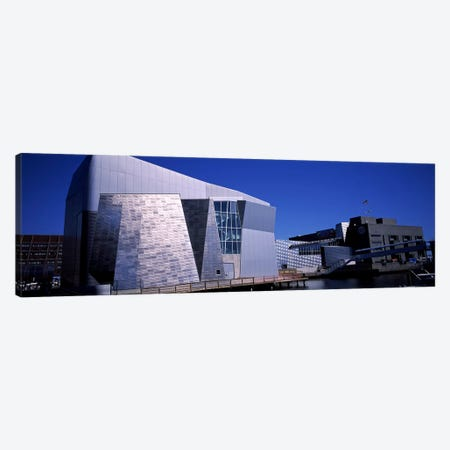 Buildings at the waterfront, New England Aquarium, Boston Harbor, Boston, Suffolk County, Massachusetts, USA Canvas Print #PIM6962} by Panoramic Images Canvas Print