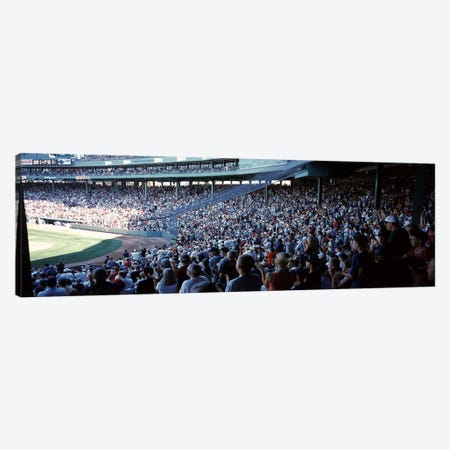 Spectators watching a baseball match in a stadium, Fenway Park, Boston, Suffolk County, Massachusetts, USA Canvas Print #PIM6964} by Panoramic Images Canvas Art