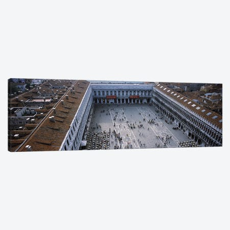 High angle view of a town square, St. Mark's Square, St Mark's Campanile, Venice, Veneto, Italy Canvas Print #PIM6968} by Panoramic Images Canvas Print