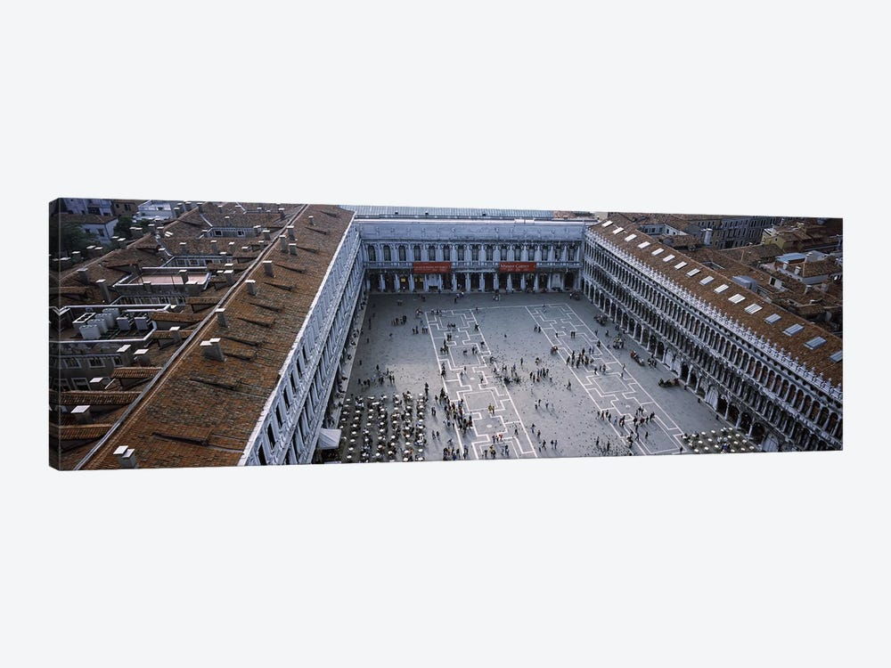 High angle view of a town square, St. Mark's Square, St Mark's Campanile, Venice, Veneto, Italy by Panoramic Images 1-piece Canvas Art