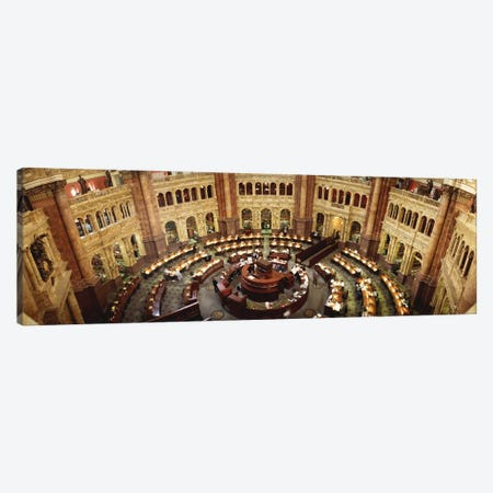 High angle view of a library reading roomLibrary of Congress, Washington DC, USA Canvas Print #PIM696} by Panoramic Images Canvas Art