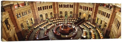 High angle view of a library reading roomLibrary of Congress, Washington DC, USA Canvas Print #PIM696