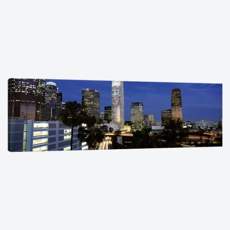 Skyscrapers in a city, City Of Los Angeles, Los Angeles County, California, USA Canvas Print #PIM6974} by Panoramic Images Art Print
