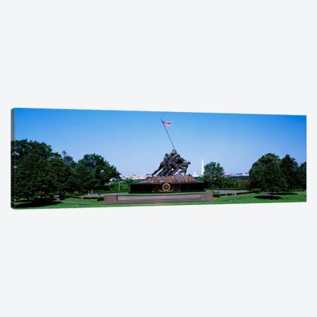 War memorial with Washington Monument in the backgroundIwo Jima Memorial, Arlington, Virginia, USA Canvas Print #PIM698} by Panoramic Images Canvas Art Print