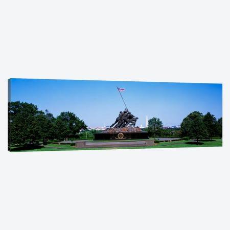 War memorial with Washington Monument in the backgroundIwo Jima Memorial, Arlington, Virginia, USA Canvas Print #PIM698} by Panoramic Images Canvas Art Print
