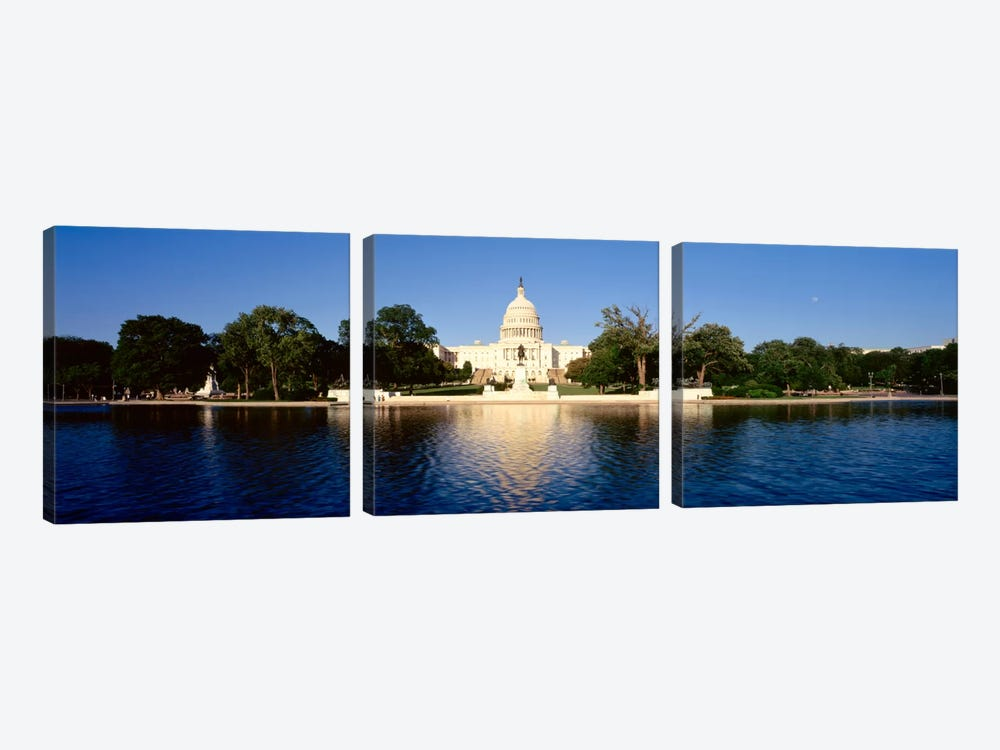 USAWashington DC, US Capitol Building by Panoramic Images 3-piece Canvas Art