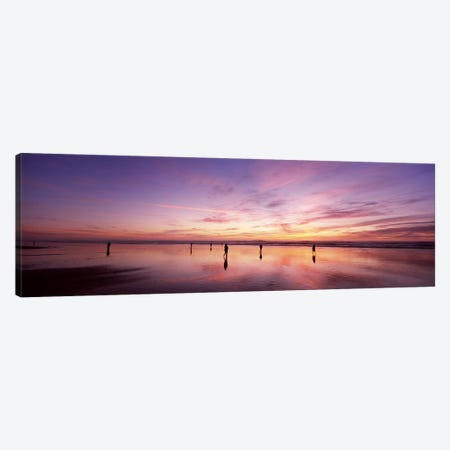 Group of people watching the sunset, San Francisco, California, USA Canvas Print #PIM7001} by Panoramic Images Canvas Art Print