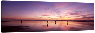 Group of people watching the sunset, San Francisco, California, USA Canvas Print #PIM7001