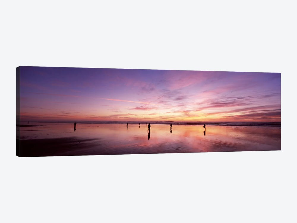 Group of people watching the sunset, San Francisco, California, USA by Panoramic Images 1-piece Art Print