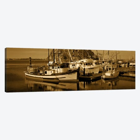 Fishing boats in the sea, Morro Bay, San Luis Obispo County, California, USA Canvas Print #PIM7008} by Panoramic Images Canvas Print