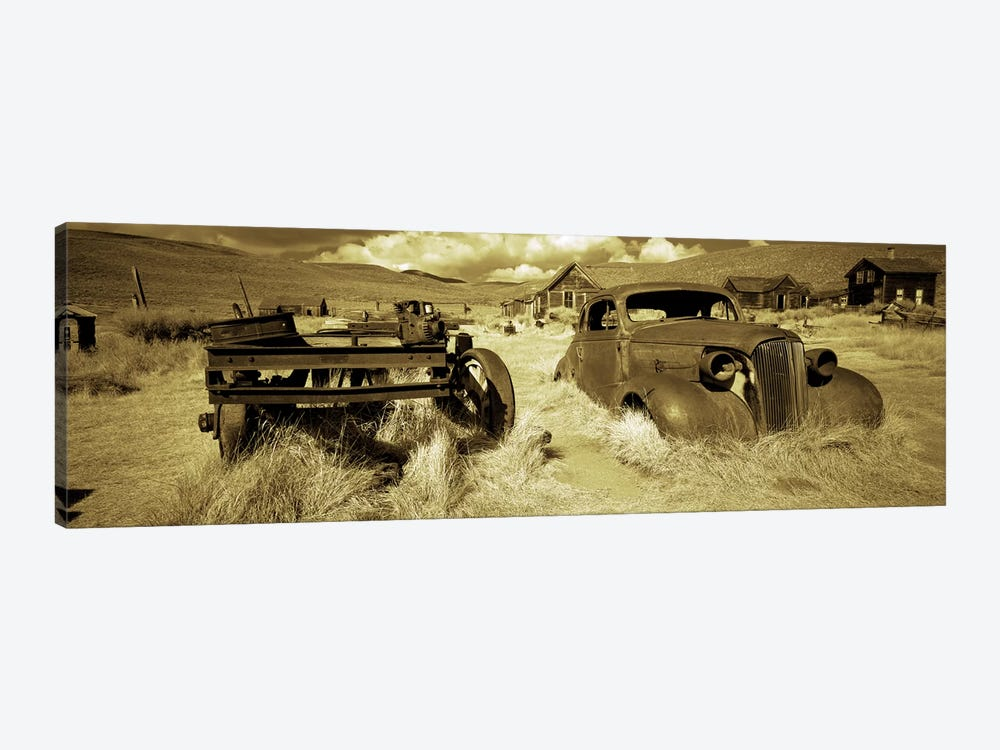 Abandoned car in a ghost townBodie Ghost Town, Mono County, California, USA by Panoramic Images 1-piece Canvas Wall Art