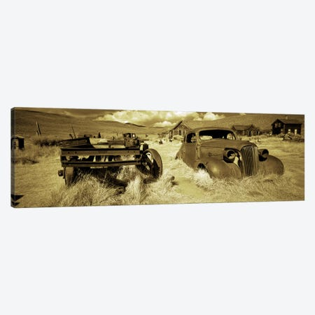 Abandoned car in a ghost townBodie Ghost Town, Mono County, California, USA Canvas Print #PIM7011} by Panoramic Images Canvas Artwork