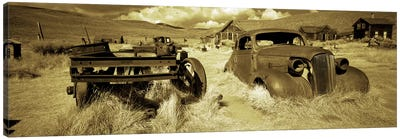 Abandoned car in a ghost townBodie Ghost Town, Mono County, California, USA Canvas Art Print
