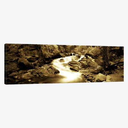 Stream flowing through rocks, Lee Vining Creek, Lee Vining, Mono County, California, USA Canvas Print #PIM7014} by Panoramic Images Art Print