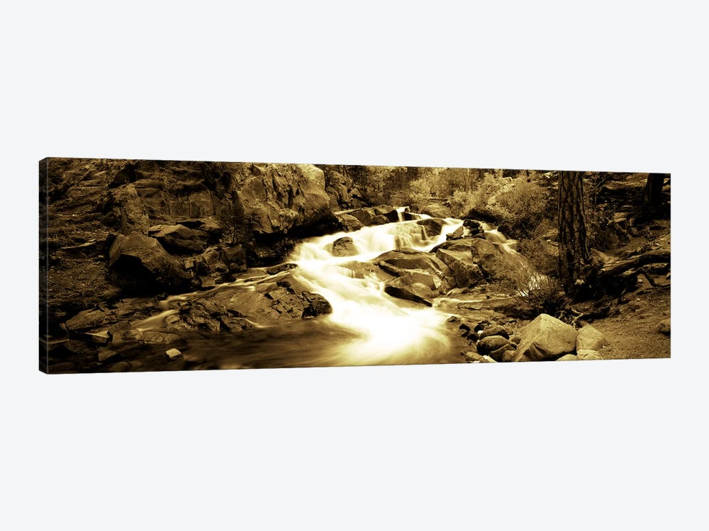Stream flowing through rocks, Lee Vining Creek, Lee Vining, Mono County, California, USA by Panoramic Images 1-piece Canvas Print