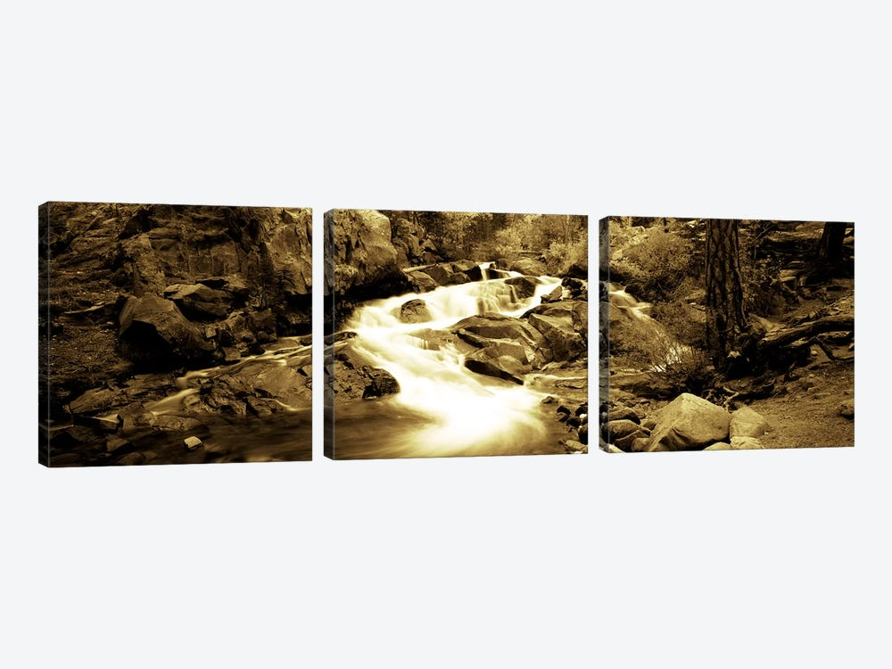 Stream flowing through rocks, Lee Vining Creek, Lee Vining, Mono County, California, USA by Panoramic Images 3-piece Art Print