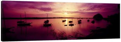 Boats in the sea, Morro Bay, San Luis Obispo County, California, USA Canvas Print #PIM7018