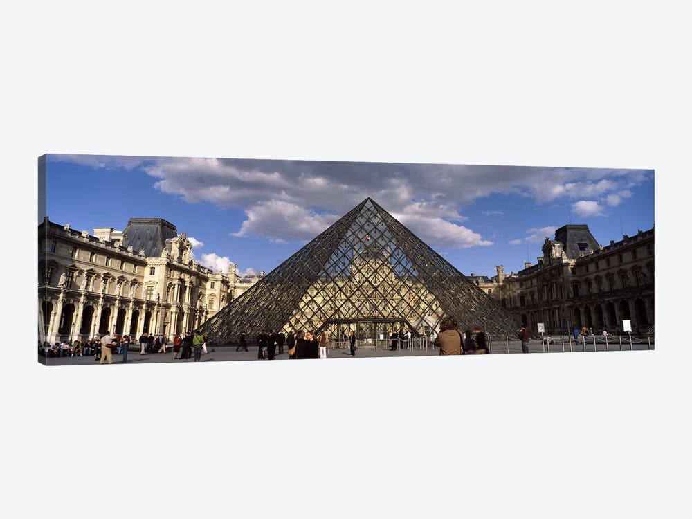 Pyramid in front of a building, Louvre Pyramid, Musee Du Louvre, Place du Carrousel, Paris, Ile-de-France, France by Panoramic Images 1-piece Canvas Artwork