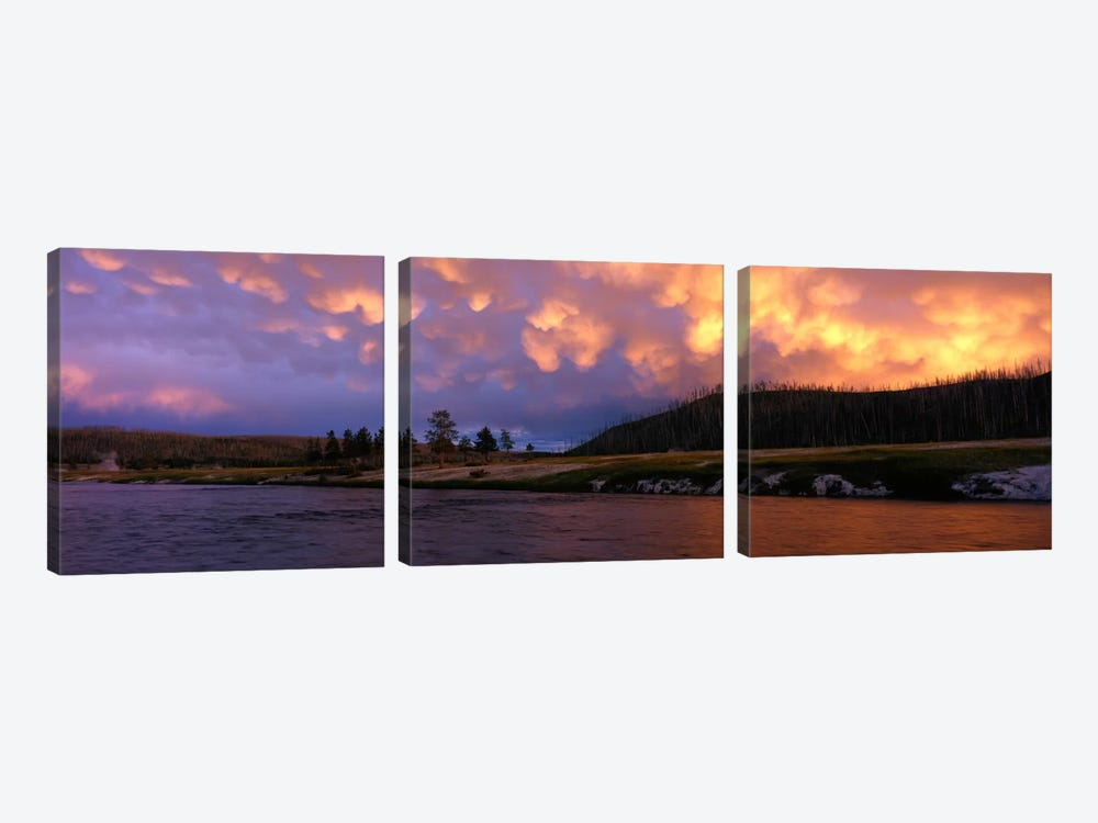 Firehole River Yellowstone National Park WY USA 3-piece Canvas Artwork