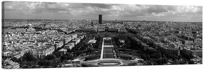 Aerial view of a city, Eiffel Tower, Paris, Ile-de-France, France Canvas Print #PIM7026