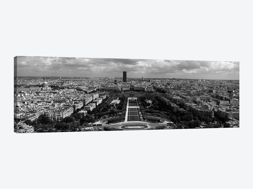 Aerial view of a city, Eiffel Tower, Paris, Ile-de-France, France by Panoramic Images 1-piece Canvas Wall Art