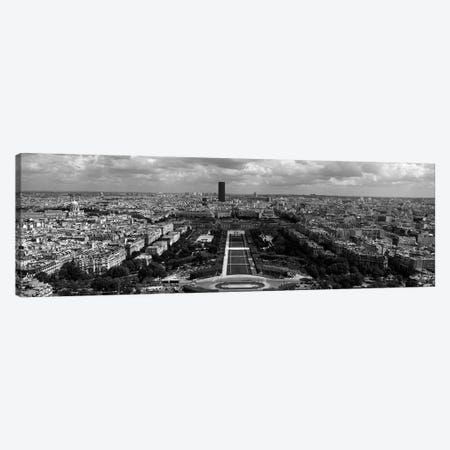 Aerial view of a city, Eiffel Tower, Paris, Ile-de-France, France 3-Piece Canvas #PIM7026} by Panoramic Images Canvas Wall Art