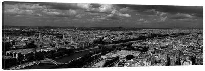 Aerial view of a river passing through a city, Seine River, Paris, Ile-de-France, France Canvas Print #PIM7027