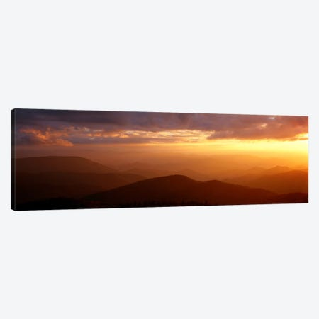 MountainsSunset, Blue Ridge Parkway, Great Smoky Mountains, North Carolina, USA Canvas Print #PIM702} by Panoramic Images Art Print