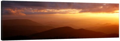 MountainsSunset, Blue Ridge Parkway, Great Smoky Mountains, North Carolina, USA Canvas Art Print
