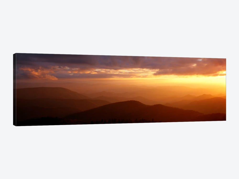 MountainsSunset, Blue Ridge Parkway, Great Smoky Mountains, North Carolina, USA by Panoramic Images 1-piece Art Print