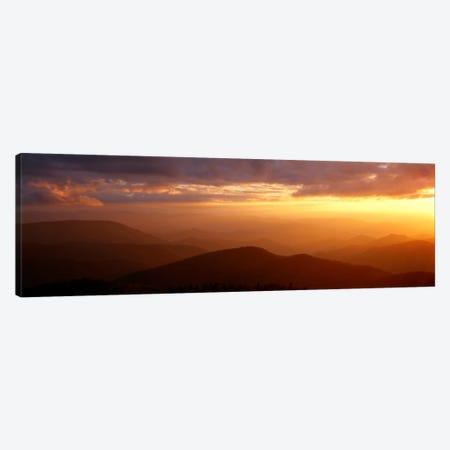 MountainsSunset, Blue Ridge Parkway, Great Smoky Mountains, North Carolina, USA Canvas Print #PIM702} by Panoramic Images Art Print