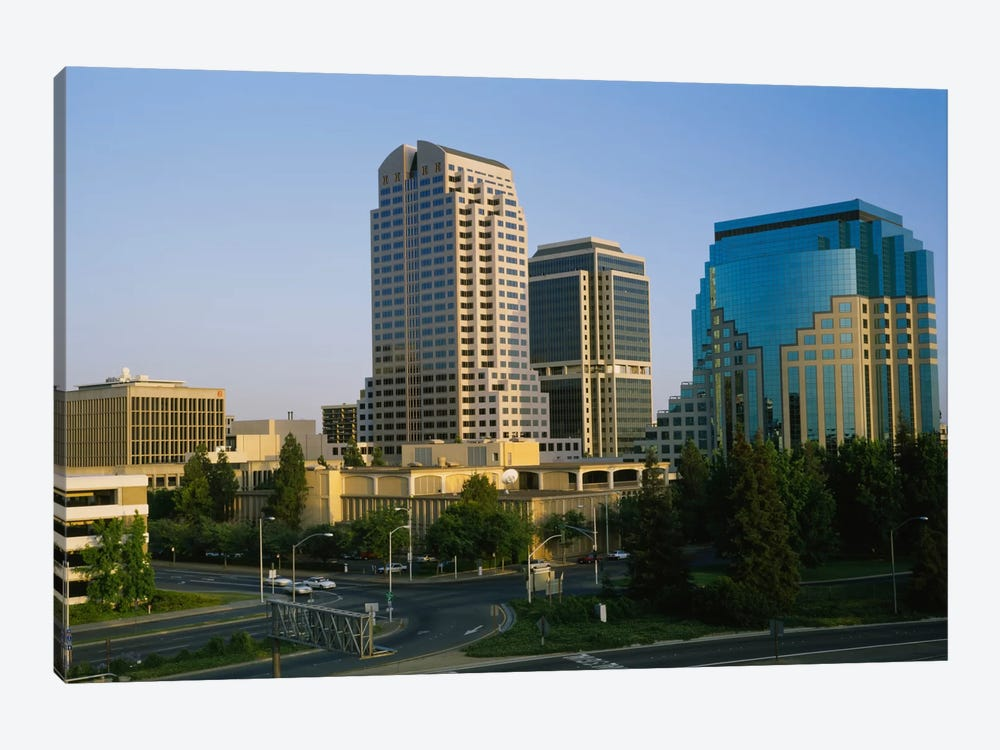 Skyscrapers in a city, Sacramento, California, USA by Panoramic Images 1-piece Art Print