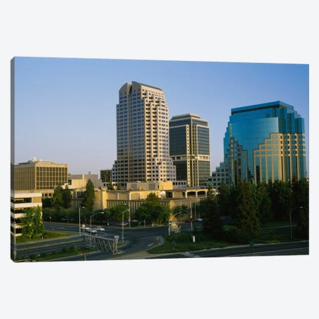 Skyscrapers in a city, Sacramento, California, USA Canvas Print #PIM704} by Panoramic Images Canvas Artwork