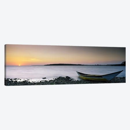 Boat at the lakeside, Lake Victoria, Great Rift Valley, Kenya Canvas Print #PIM7059} by Panoramic Images Canvas Art